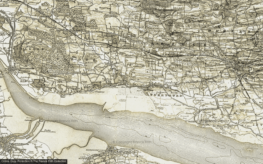 Old Map of Historic Map covering Langleas in 1904-1906