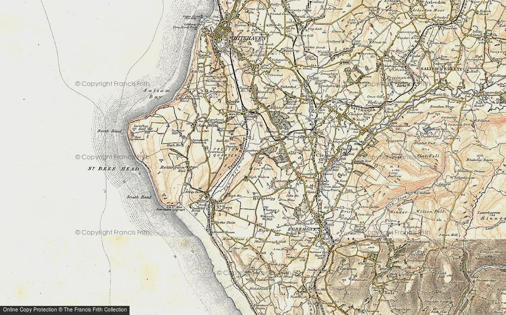Old Map of Historic Map covering Woodend in 1903-1904