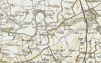 Old map of Worsall Grove in 1903-1904