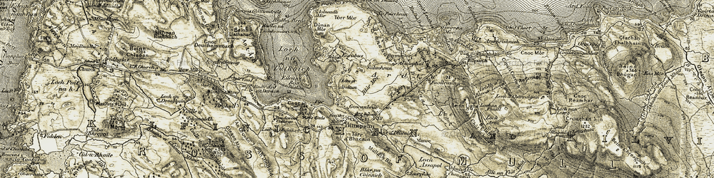 Old map of Àird an Daraich in 1906-1907