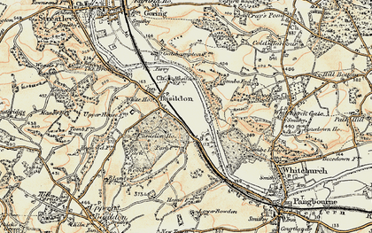 Old map of Lower Basildon in 1897-1900
