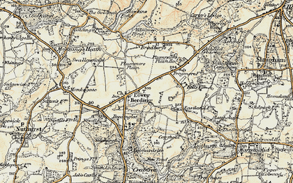 Old map of Lower Beeding in 1898