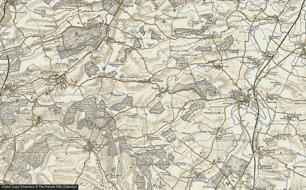 Old Map of Historic Map covering Banhaw Wood in 1901-1902