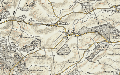 Old map of Banhaw Wood in 1901-1902