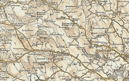 Old map of Lower Bodinnar in 1900