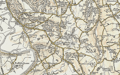 Old map of Alford's Mill in 1899-1900