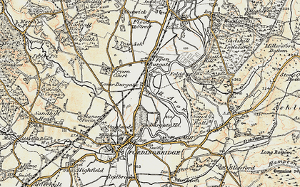 Old map of Lower Burgate in 1897-1909