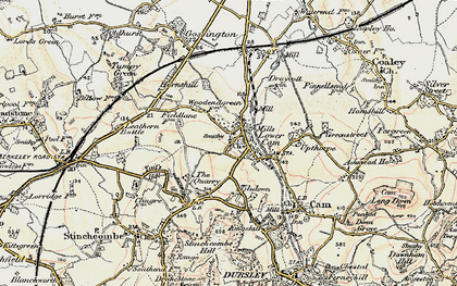 Old map of Lower Cam in 1898-1900