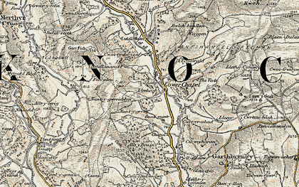 Old map of Alltybrain in 1900-1902