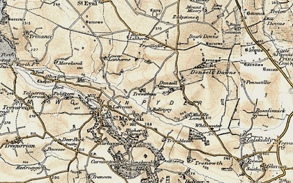 Old map of Lower Denzell in 1900