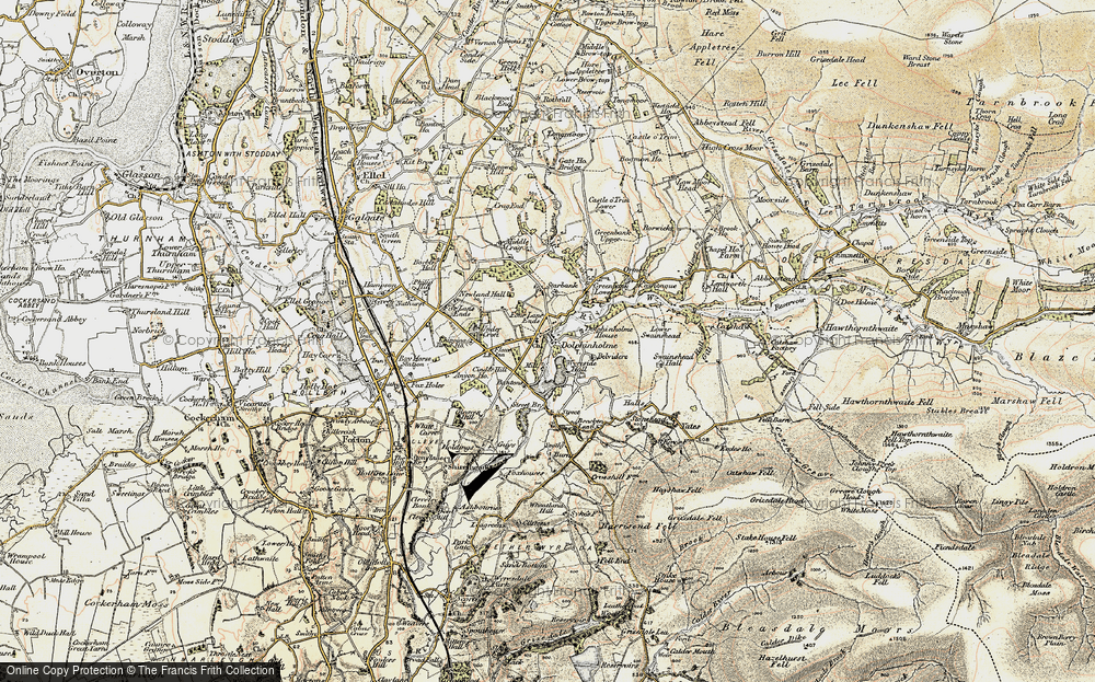 Old Map of Historic Map covering Bantons in 1903-1904