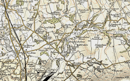 Old map of Bantons in 1903-1904