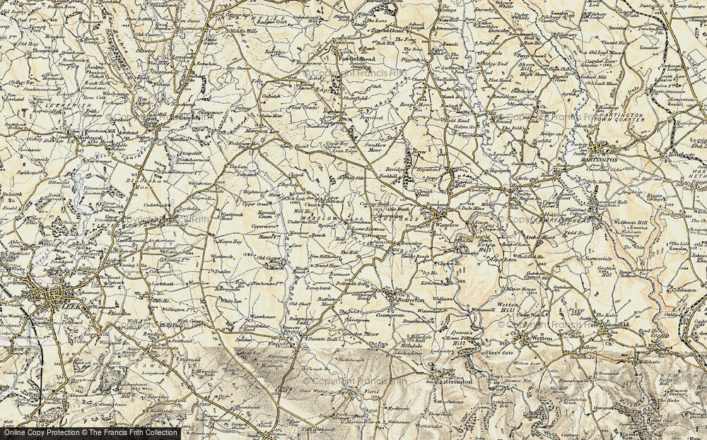Old Map of Historic Map covering Averhill Side in 1902-1903