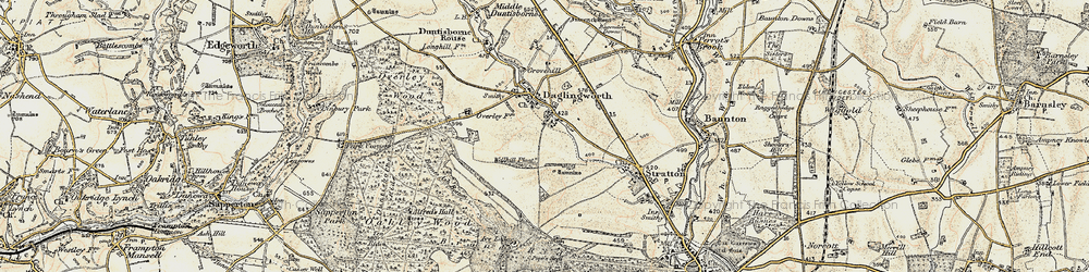 Old map of Alfred's Hall in 1898-1899