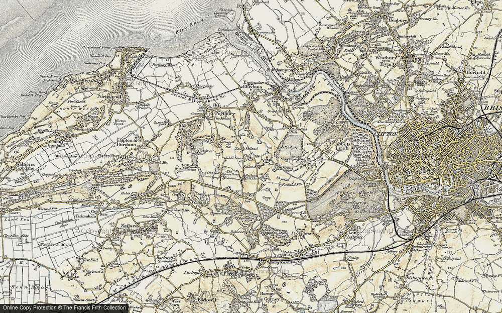 Old Map of Lower Failand, 1899 in 1899