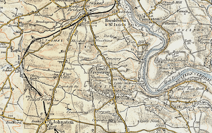 Old map of Woodbine in 1901-1912