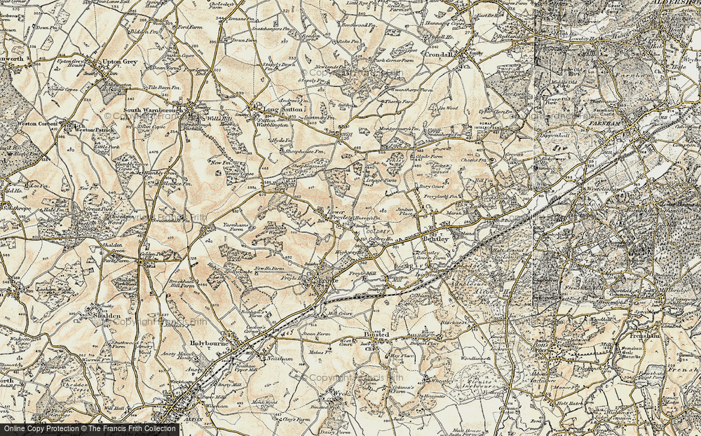 Old Map of Lower Froyle, 1897-1909 in 1897-1909