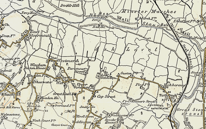 Old map of Ash Level in 1898-1899