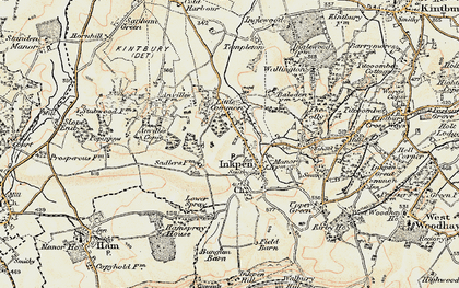 Old map of Anville's Copse in 1897-1900