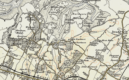 Old map of Lower Halstow in 1897-1898