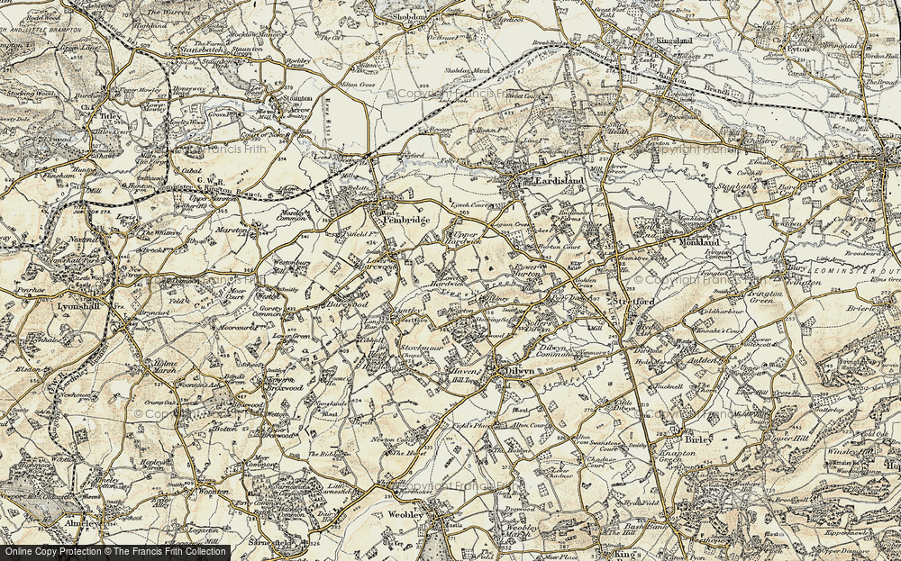 Old Map of Historic Map covering Tippet's Brook in 1900-1903