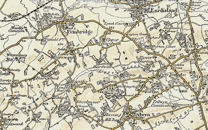 Old map of Lower Hardwick in 1900-1903