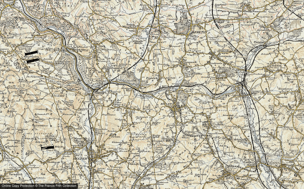 Old Map of Lower Hartshay, 1902 in 1902