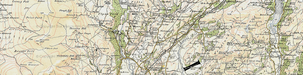 Old map of Whineray Ground in 1903-1904