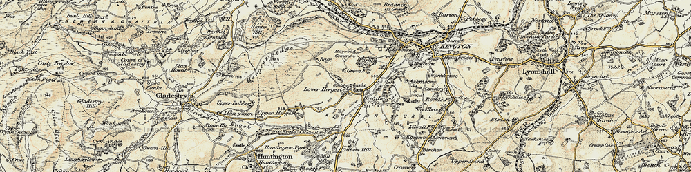 Old map of Whet Stone in 1900-1903