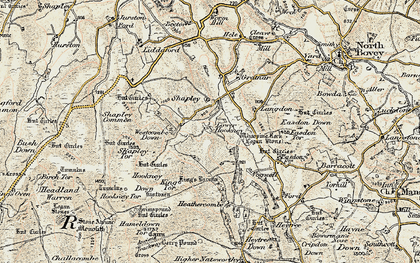 Old map of Whooping Rock in 1899-1900