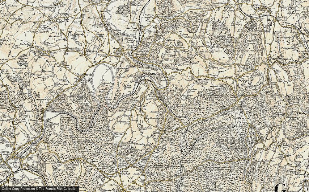 Old Map of Lower Lydbrook, 1899-1900 in 1899-1900