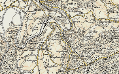 Old map of Lower Lydbrook in 1899-1900