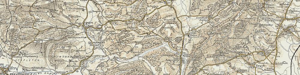 Old map of Woodhampton in 1901-1903