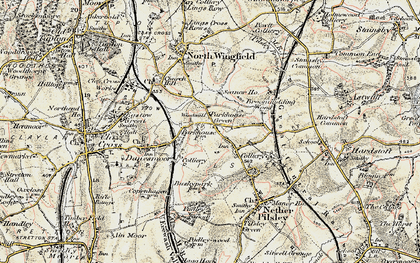 Old map of Lower Pilsley in 1902-1903