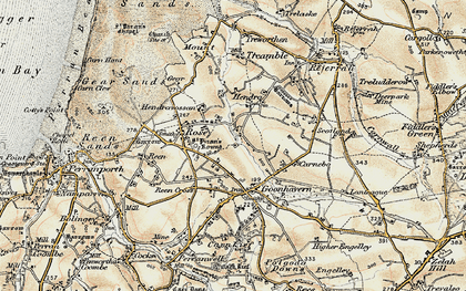 Old map of Lower Rose in 1900