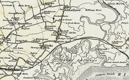 Old map of Lower Stoke in 1897-1898