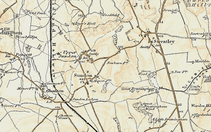 Old map of Lower Sundon in 1898-1899