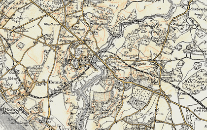 Old map of Lower Swanwick in 1897-1899