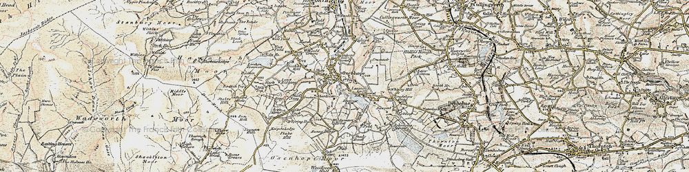 Old map of White Moor in 1903-1904