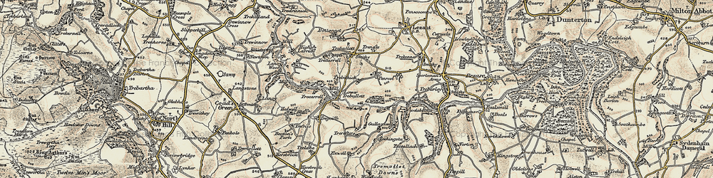 Old map of West Penrest in 1899-1900