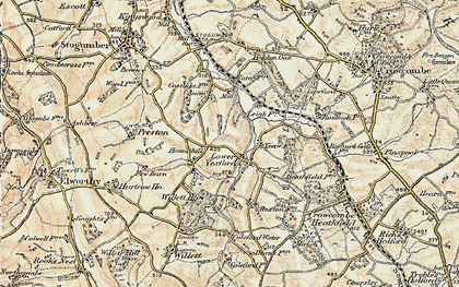 Old map of Leigh Cott in 1898-1900