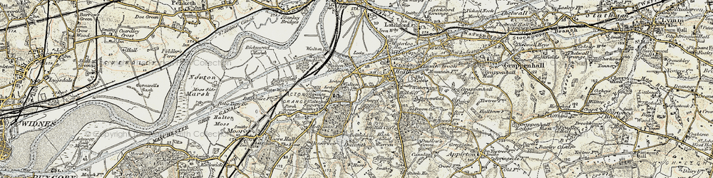 Old map of Lower Walton in 1902-1903
