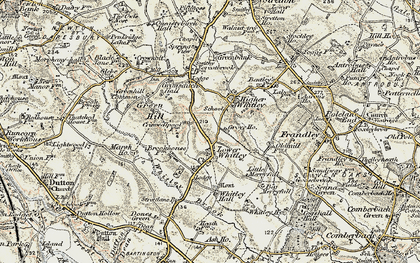 Old map of Whitley Brook in 1902-1903