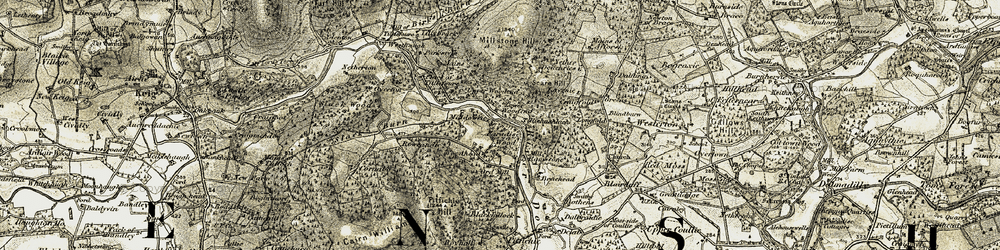 Old map of Woodhead in 1908-1910