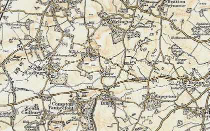 Old map of Yarlington Ho in 1899