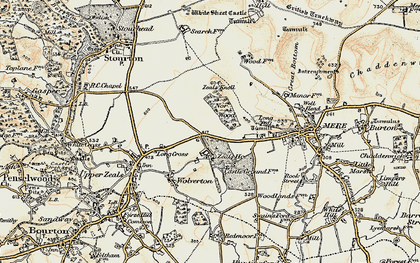 Old map of Zeals Ho in 1897-1899