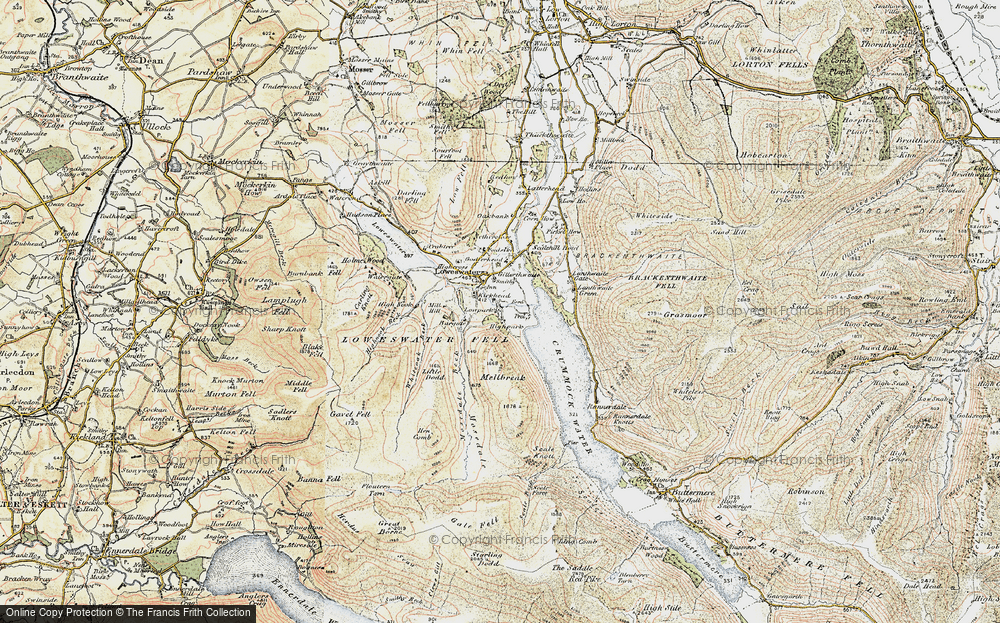 Old Map of Historic Map covering Lanthwaite in 1901-1904