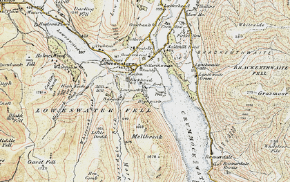 Old map of Loweswater in 1901-1904