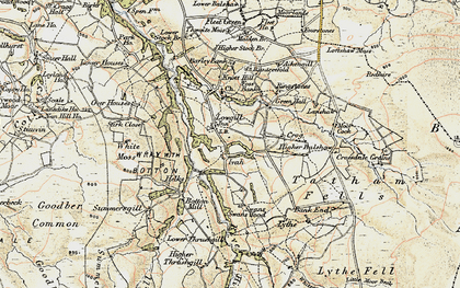 Old map of Aikengill in 1903-1904