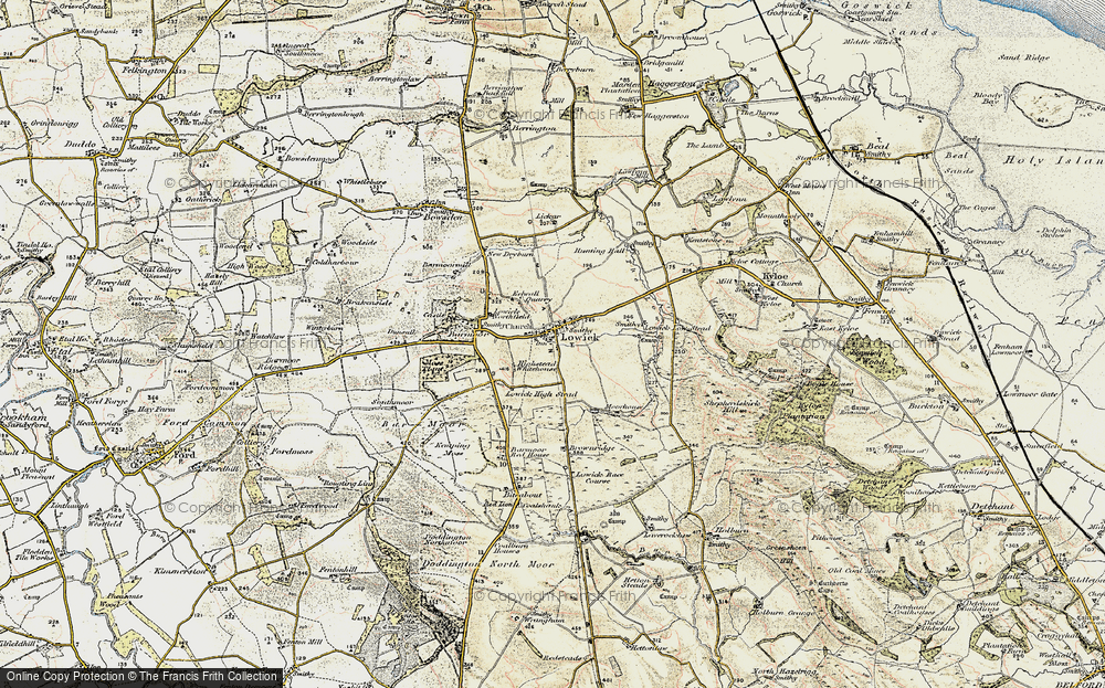 Old Map of Historic Map covering Bar Moor in 1901-1903